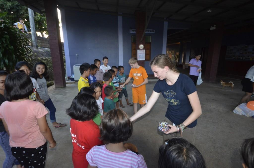Family visiting Chiang Rai orphanage